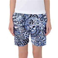 Zentangle Mix 1216b Women s Basketball Shorts
