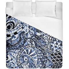 Zentangle Mix 1216b Duvet Cover (California King Size)