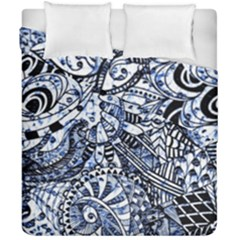 Zentangle Mix 1216b Duvet Cover Double Side (California King Size)