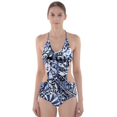 Zentangle Mix 1216b Cut-Out One Piece Swimsuit