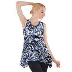 Zentangle Mix 1216b Side Drop Tank Tunic