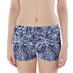 Zentangle Mix 1216b Boyleg Bikini Wrap Bottoms