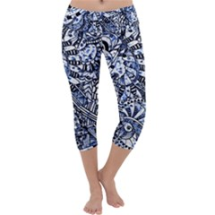 Zentangle Mix 1216b Capri Yoga Leggings