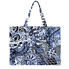 Zentangle Mix 1216b Large Tote Bag