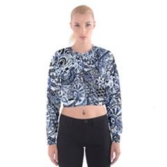 Zentangle Mix 1216b Women s Cropped Sweatshirt