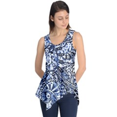 Zentangle Mix 1216b Sleeveless Tunic