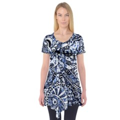 Zentangle Mix 1216b Short Sleeve Tunic