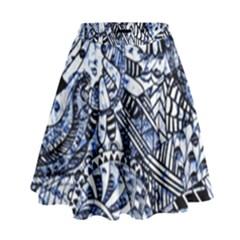 Zentangle Mix 1216b High Waist Skirt