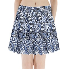 Zentangle Mix 1216b Pleated Mini Skirt