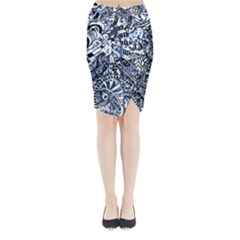 Zentangle Mix 1216b Midi Wrap Pencil Skirt
