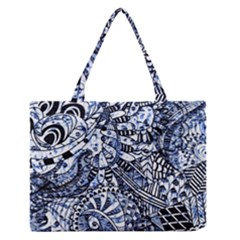 Zentangle Mix 1216b Medium Zipper Tote Bag
