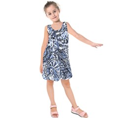 Zentangle Mix 1216b Kids  Sleeveless Dress