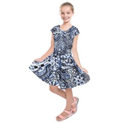 Zentangle Mix 1216b Kids  Short Sleeve Dress