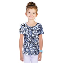 Zentangle Mix 1216b Kids  One Piece Tee