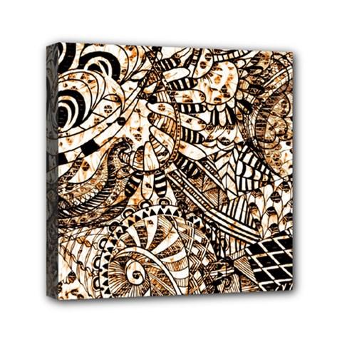 Zentangle Mix 1216c Mini Canvas 6  x 6