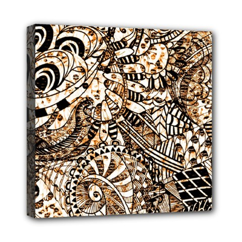 Zentangle Mix 1216c Mini Canvas 8  x 8