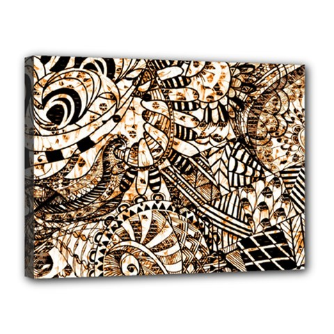 Zentangle Mix 1216c Canvas 16  x 12