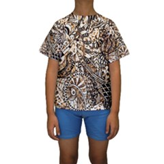 Zentangle Mix 1216c Kids  Short Sleeve Swimwear