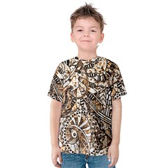 Zentangle Mix 1216c Kids  Cotton Tee