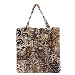 Zentangle Mix 1216c Grocery Tote Bag