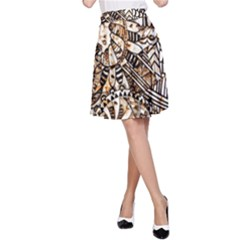 Zentangle Mix 1216c A-Line Skirt