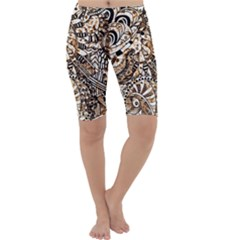Zentangle Mix 1216c Cropped Leggings