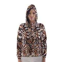 Zentangle Mix 1216c Hooded Wind Breaker (Women)