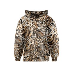 Zentangle Mix 1216c Kids  Pullover Hoodie