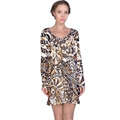 Zentangle Mix 1216c Long Sleeve Nightdress