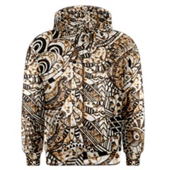Zentangle Mix 1216c Men s Zipper Hoodie