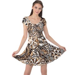 Zentangle Mix 1216c Cap Sleeve Dresses