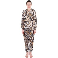 Zentangle Mix 1216c Hooded Jumpsuit (Ladies)