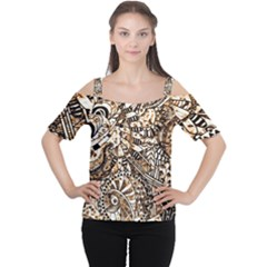 Zentangle Mix 1216c Women s Cutout Shoulder Tee