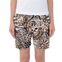 Zentangle Mix 1216c Women s Basketball Shorts
