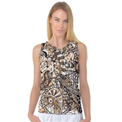 Zentangle Mix 1216c Women s Basketball Tank Top
