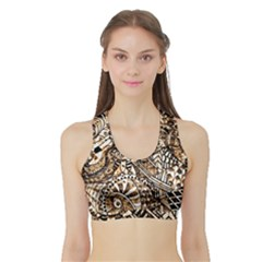 Zentangle Mix 1216c Sports Bra with Border