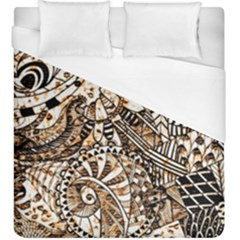 Zentangle Mix 1216c Duvet Cover (King Size)