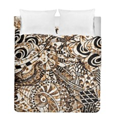 Zentangle Mix 1216c Duvet Cover Double Side (Full/ Double Size)