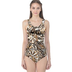 Zentangle Mix 1216c One Piece Swimsuit