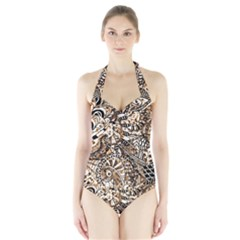 Zentangle Mix 1216c Halter Swimsuit