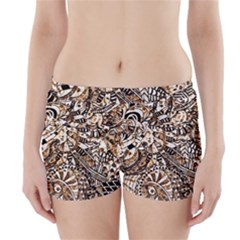 Zentangle Mix 1216c Boyleg Bikini Wrap Bottoms