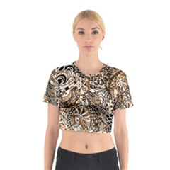 Zentangle Mix 1216c Cotton Crop Top