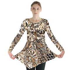 Zentangle Mix 1216c Long Sleeve Tunic