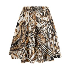 Zentangle Mix 1216c High Waist Skirt