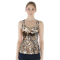 Zentangle Mix 1216c Racer Back Sports Top