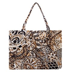 Zentangle Mix 1216c Medium Zipper Tote Bag