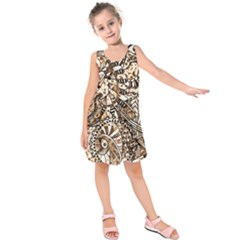 Zentangle Mix 1216c Kids  Sleeveless Dress