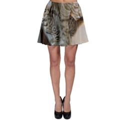 Ocicat Tawny Kitten With Cinnamon Mother  Skater Skirt