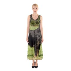 Brussels Griffon Full  Sleeveless Maxi Dress