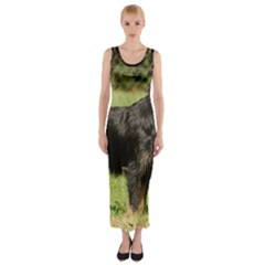 Brussels Griffon Full  Fitted Maxi Dress